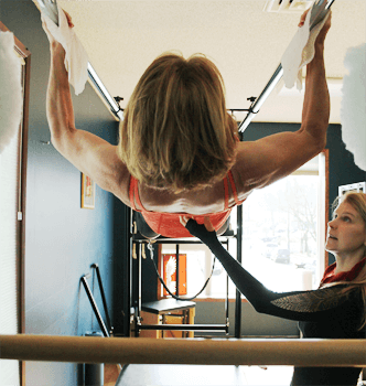 Susan teaching pilates